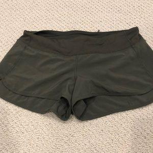Lululemon Army Green Speed Short